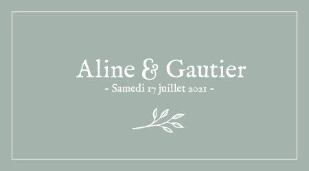 Mariage Aline & Gautier